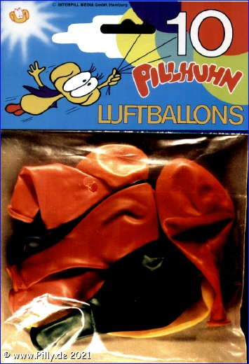 Pilly Pillhuhn IPM-Luftballons